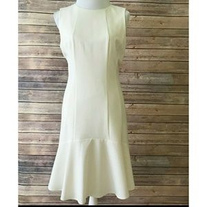 Calvin Klein sheath dress w/flounce trim